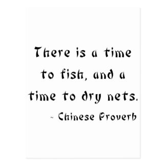 There is a time to fish, and a time to dry nets postcard
