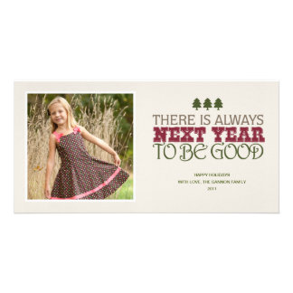 There is Always Next Year to Be Good - Christmas Personalised Photo Card