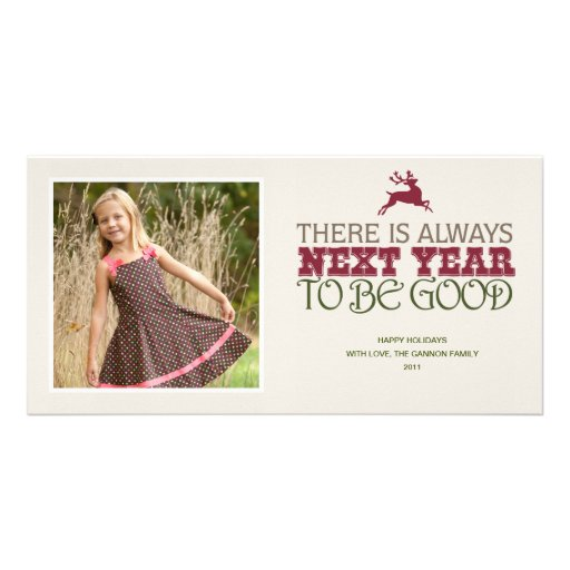 There is Always Next Year to Be Good - Christmas Personalized Photo Card