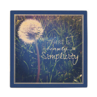 There Is Beauty In Simplicity Maple Wood Coaster