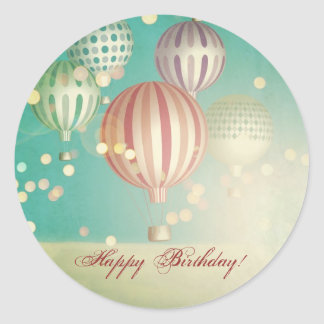 There is magic in the air - happy birthday round sticker