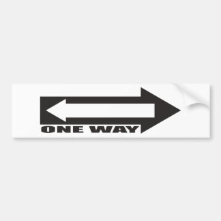 there is newer one way bumper sticker