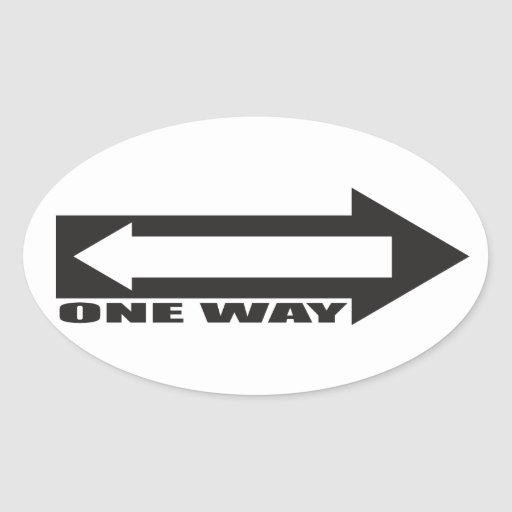 there is newer one way sticker
