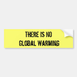There Is NO Global Warming Bumper Sticker