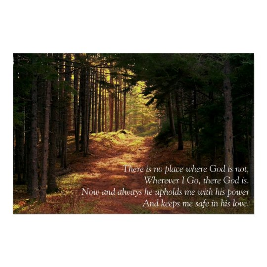 There is no place where God is not Poster