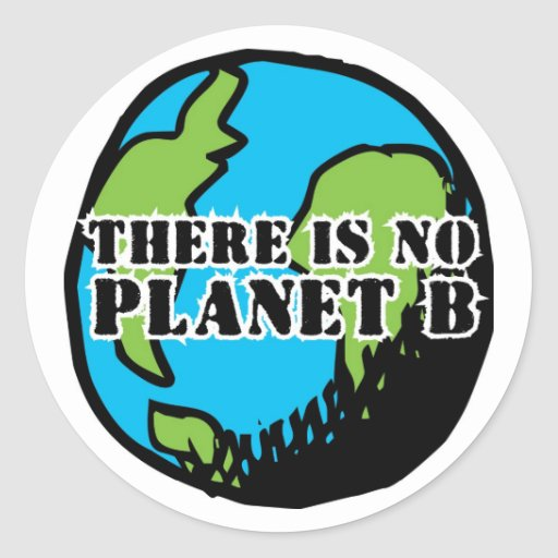 THERE IS NO PLANET B ROUND STICKERS