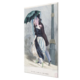 There is Nothing as Expensive as Le Bon Marche' Stretched Canvas Print