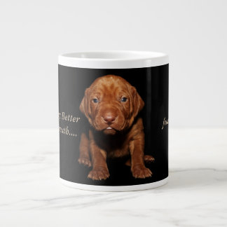There is Nothing Better Than Puppy Breath..... Giant Coffee Mug