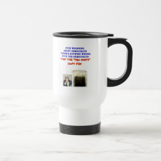 THERE IS NOTHING WRONG WITH DEMOCRATS STAINLESS STEEL TRAVEL MUG