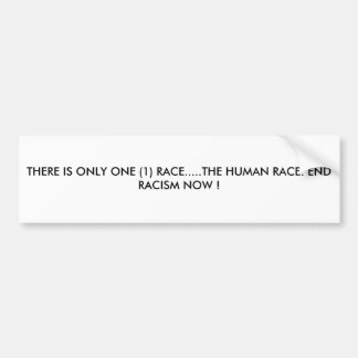 THERE IS ONLY ONE (1) RACE.....THE HUMAN RACE. ... BUMPER STICKER