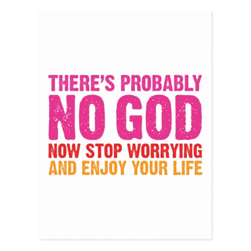 There Is Probably No God Postcard