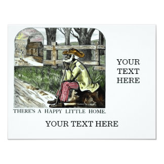 There´s A Happy Little Home 11 Cm X 14 Cm Invitation Card