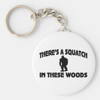 There's A Squatch In These Woods Key Ring