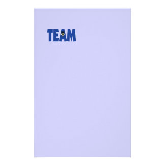 There s No I in Team Custom Stationery