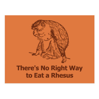 There s no right way to eat a rhesus post card
