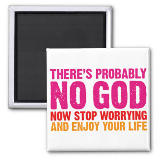 There s probably no god now stop worrying magnet
