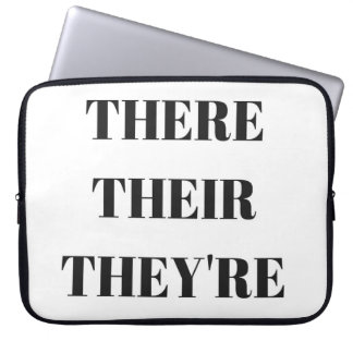 There, Their, They're, Humor Text Laptop Case Laptop Computer Sleeve
