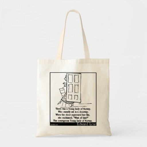 There was a Young Lady of Norway Tote Bags