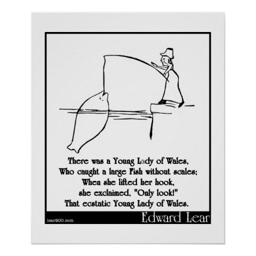 There was a Young Lady of Wales Poster
