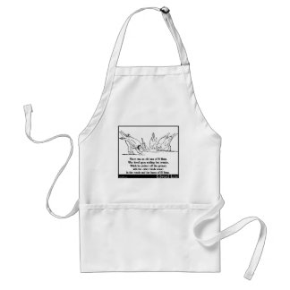 There was an old man of El Hums Standard Apron