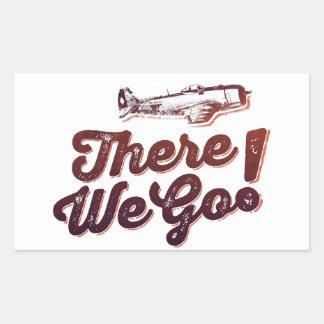 There We Go! Retro Fighter Plane - Trendium Retro Rectangular Sticker