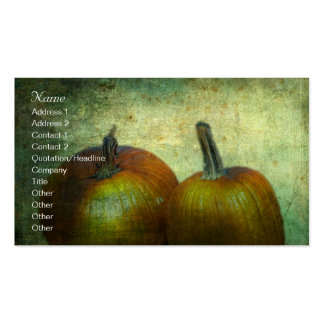 There Were Never Such Devoted Pumpkins Business Card Templates