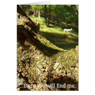 There you will find me. greeting card