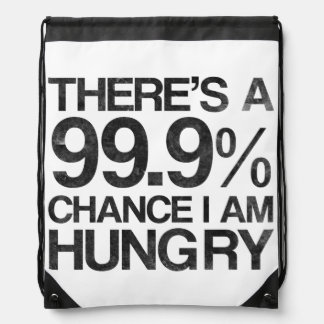 There's a 99.9% chance i am hungry rucksacks