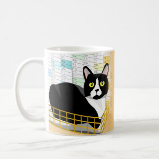 """""""There's a cat in my in-tray"""" funny Lucas cat mug"""