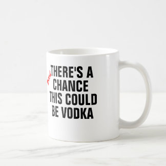 There's a good chance this could be vodka. coffee mug