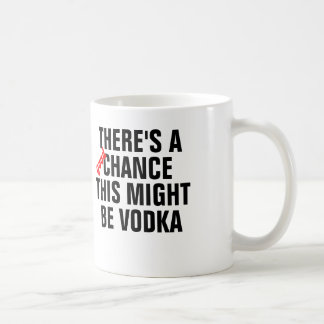 There's a good chance this might be vodka. coffee mug