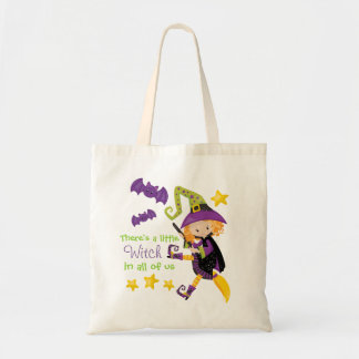 There's A Little Witch Halloween Tote Bag