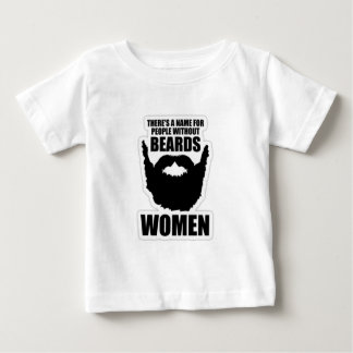 There's A Name For People Without Beards, Women! Baby T-Shirt