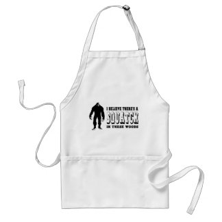 There's a Squatch In These Woods! Bigfoot Lives Standard Apron