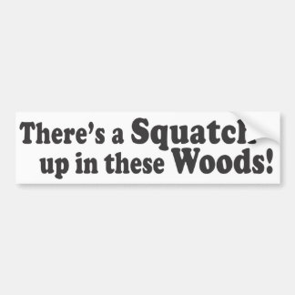 There's A Squatch Up In These Woods! Multiple Prod Bumper Sticker