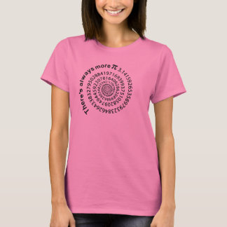 There's Always More Pi Spiral T-shirt