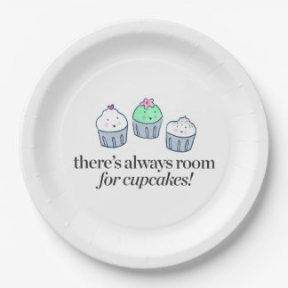There's Always Room for Cupcakes 9 Inch Paper Plate