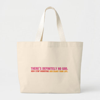 There's Definitely No God Jumbo Tote Bag