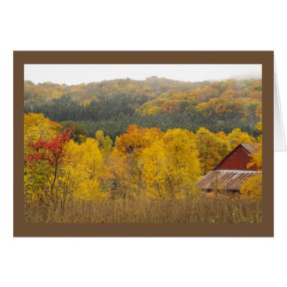 """THERE'S GOLD IN THOSE HILLS"" (AUTUMN IN MICHIGAN) CARD"