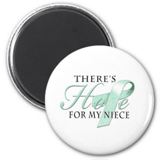 There's Hope for Ovarian Cancer Niece 6 Cm Round Magnet