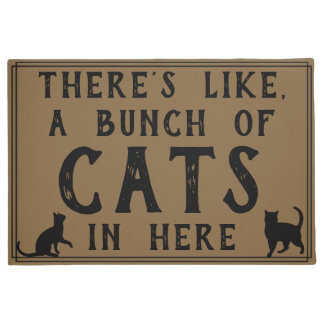 There's Like, A Bunch of Cats in Here | Funny Doormat
