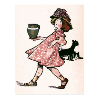 """There's many a slip....Vintage Illustration Postcard"