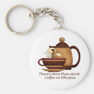 There's More than Good Coffee in Ethiopia Key Ring