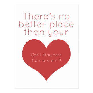 There's no better place than your heart (Red) Post Card
