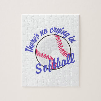 Theres No Crying In Softball Jigsaw Puzzle