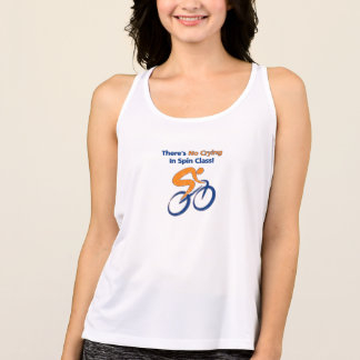 There's no crying in spin class. tank top