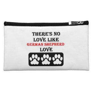 There's No Love Like German Shepherd Love Cosmetics Bags