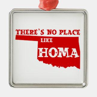 There's No Place Like Homa Oklahoma Christmas Ornament