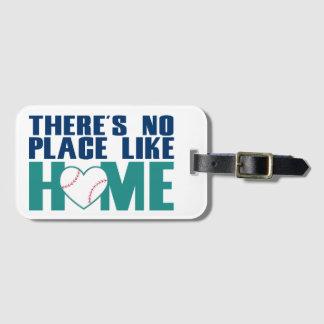 There's No Place Like Home Baseball Bag Tag