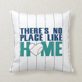 There's No Place Like HOME Baseball Heart Pillow